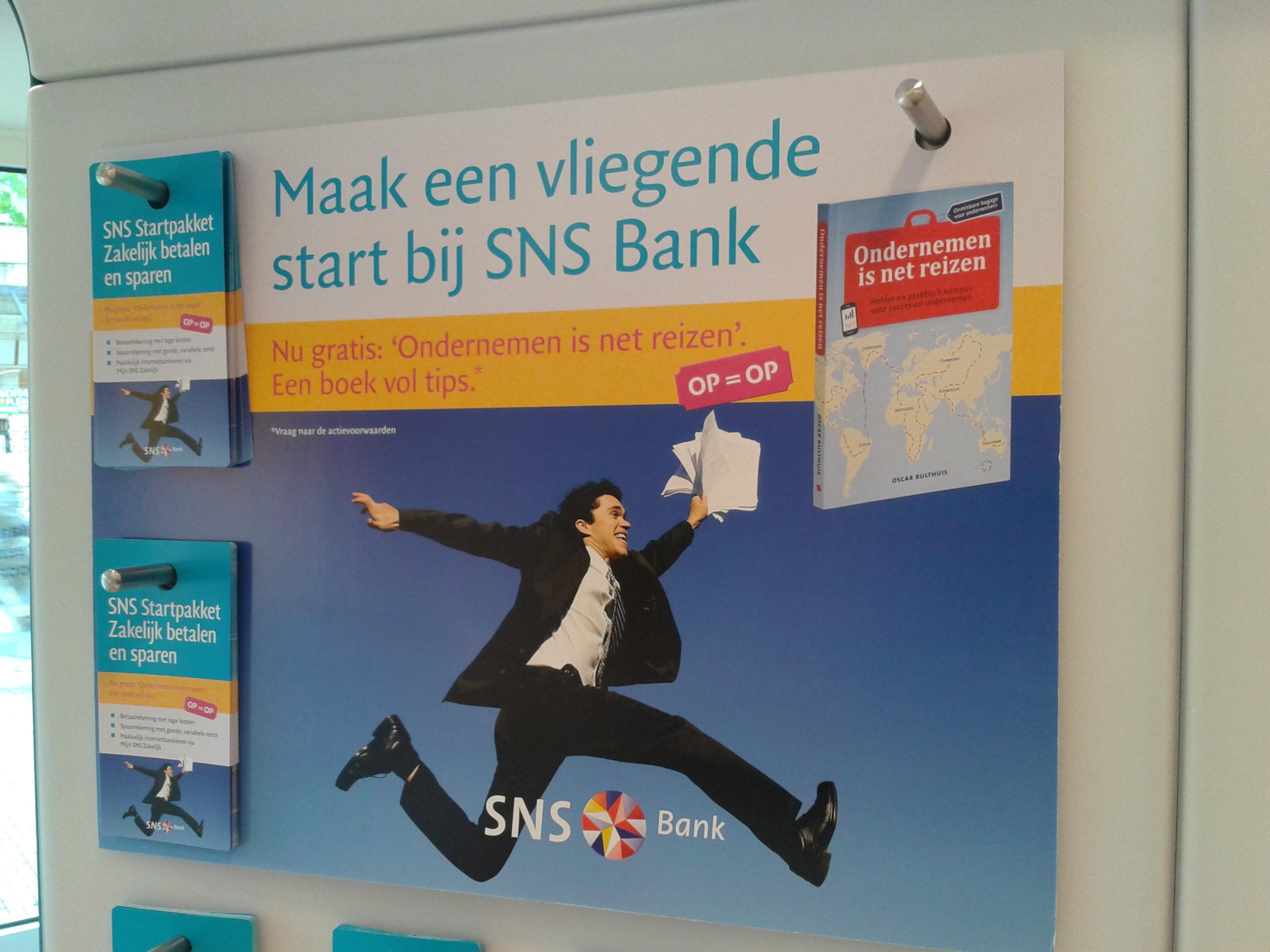 SNS Bank promoot Ondernemen is net reizen